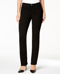 Charter Club Petite Lexington Saturated Black Straight Leg Jeans Only At Macy's