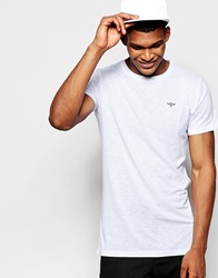 Creative Recreation Slim Fit T Shirt In Slub Jersey White