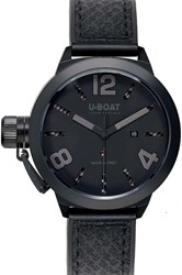 U Boat Classico Ab 53Mm Black Watch Black Rubber Band