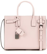 Saint Laurent Sac De Jour Baby Leather Tote Pink