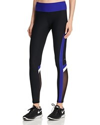 X By Gottex Color Block Mesh Insert Leggings Compare At 78 Black Cobalt