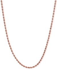 Macy's Rope Chain Necklace In 14K Rose Gold