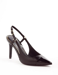 Lauren Ralph Lauren Aaliyah Leather Slingback Pumps