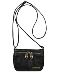 Kenneth Cole Reaction Wooster Street Small Flap Crossbody Black
