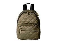 Le Sport Sac City Piccadilly Backpack Metallic Bronze Quilted Backpack Bags Olive