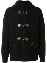 Bark Knit Toggle Coat Black