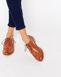 Asos Mai Leather Brogues Tan