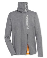 Superdry Men's Sport Runner Funnel Neck Sweatshirt Grey Grit