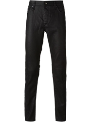 John Varvatos Coated Skinny Jeans Black