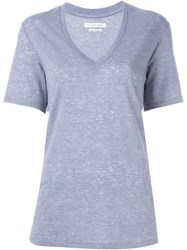 Isabel Marant A Toile 'Denton' Heathered T Shirt Blue