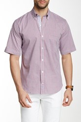 Tailorbyrd Short Sleeve Printed Woven Shirt Red
