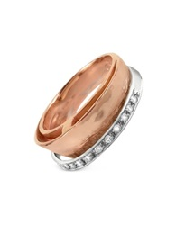 Torrini Tama Diamond Channel 18K Rose Gold Band Ring