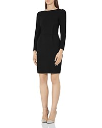 Reiss Nessa Puff Sleeve Sheath Dress Black