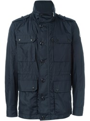 Moncler Military Style Jacket Blue