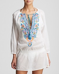 Ondademar Bengal Dress Swim Cover Up White