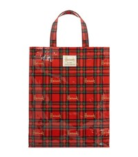 Harrods Medium Royal Stewart Tartan Shopper Bag Unisex