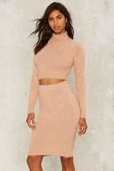 Fuzz Can't Get Enough Midi Skirt Beige Pink