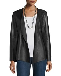 Eileen Fisher Fisher Project Draped Leather Jacket Women's