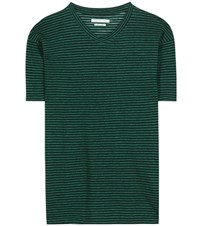 Etoile Isabel Marant Andreia Linen And Cotton T Shirt Green