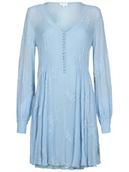 Ghost Kerry Dress Powder Blue