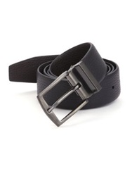 Giorgio Armani Pebbled Leather Belt Slate
