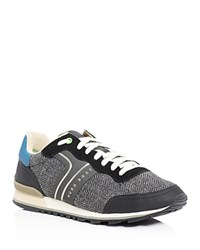 Hugo Boss Green Parkour Runn Lace Up Sneakers Black