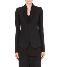 Rick Owens Stretch Wool Blazer Jacket Black