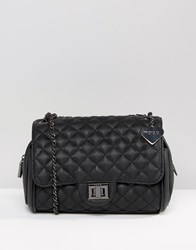 Marc B Knightsbridge Quilted Shoulder Bag Black