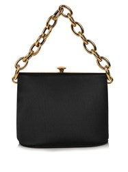 Marni Silk Satin Shoulder Bag Black