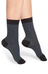 Women's Pantherella Herringbone Wool Blend Socks Black