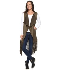 Rock And Roll Cowgirl Vest 49V8733 Olive Women's Vest