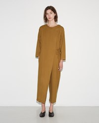 Black Crane Folding Jumper Gold Brown