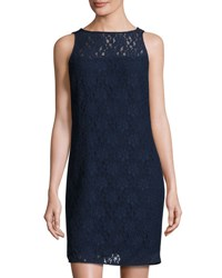 Michael Michael Kors Floral Lace Shift Dress Real Navy
