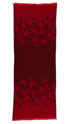 Mcq By Alexander Mcqueen Swallow Degrade Scarf True Red Burgundy