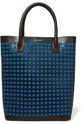 Mother Of Pearl Pentley Cutout Leather Tote Blue