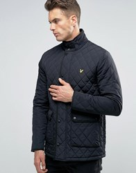 Lyle And Scott Diamond Quilt Jacket In Black Black