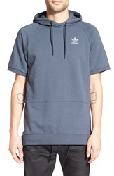 Adidas Men's Originals 'Sport Luxe' Short Sleeve Hoodie Utility Blue