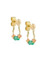 Natasha Collis Handmade Chain Loop Earring Multicolour