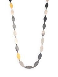 Gurhan Willow 24K Yellow Gold And Sterling Silver Leaf Flake Necklace Gold Multicolor