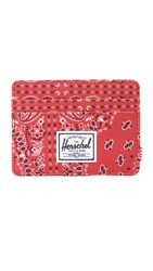 Herschel Charlie Card Case Red Bandana