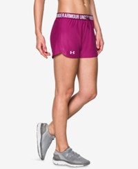 Under Armour Play Up Shorts Magenta Shock White