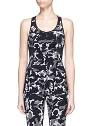 Koral 'Triad' Mesh Back Camouflage Jacquard Sports Tank Top Multi Colour