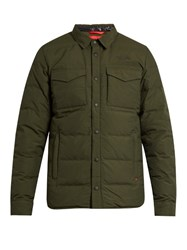 The North Face Red Label Hoodoo Point Collar Down Coat Green