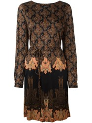 Etro Abstract Print Belted Dress Multicolour