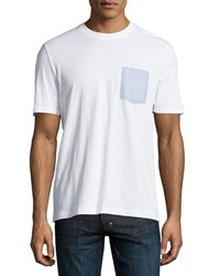 Penguin Chambray Pocket Slub Tee Bright White