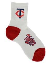 For Bare Feet Minnesota Twins Ankle White 501 Socks