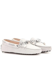 Tod's Heaven Laccetto Scooby Doo Suede Loafers Grey