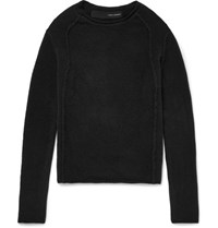 Isabel Benenato Merino Wool Blend Sweater Black