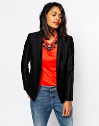Sportmax Code Open Blazer With Cropped Back Black