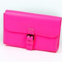 Barbara Wiggins Small Shoulder Bag Neon Pink